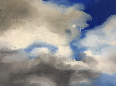cloud study, oil painting by Philine van der Vegte