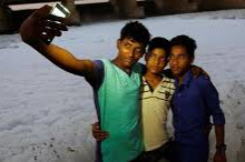 3 Indian boys taking a selfie