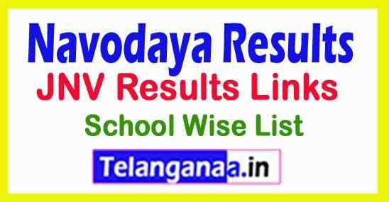 JNV Results Links / Navodaya Results 2019 School Wise List