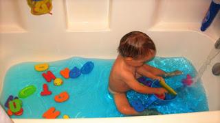 El baño puede ser un buen momento para trabajar los sentidos