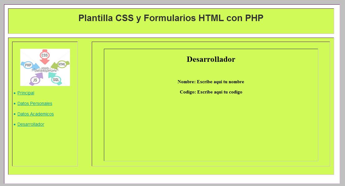 Plantilla-CSS-FormularioHTML-PHP-Desarrollador