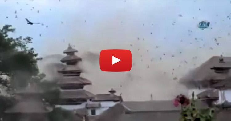 Video compilation of 7.9 magnitude Earthquake that jolts Nepal