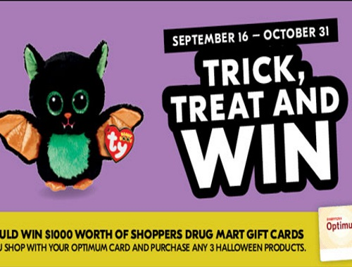Shoppers Drug Mart Trick, Treat and Win Contest