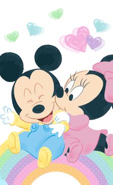 Mickey y minnie mouse bebes disney para imprimir