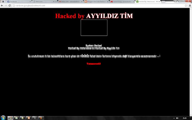 36 Subdomain Jaringan Google Adsense Hacked by Ayyildiz Tim