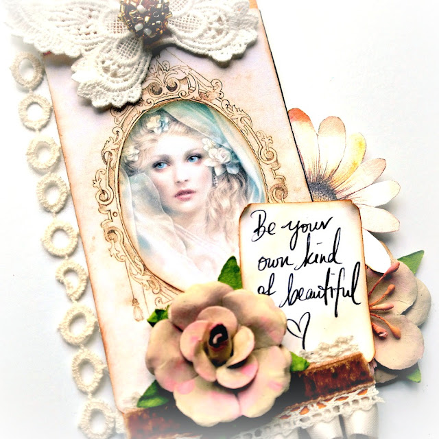Mixed Media Winter White Ethereal Beauty Tag by Dana Tatar for Gecko Galz