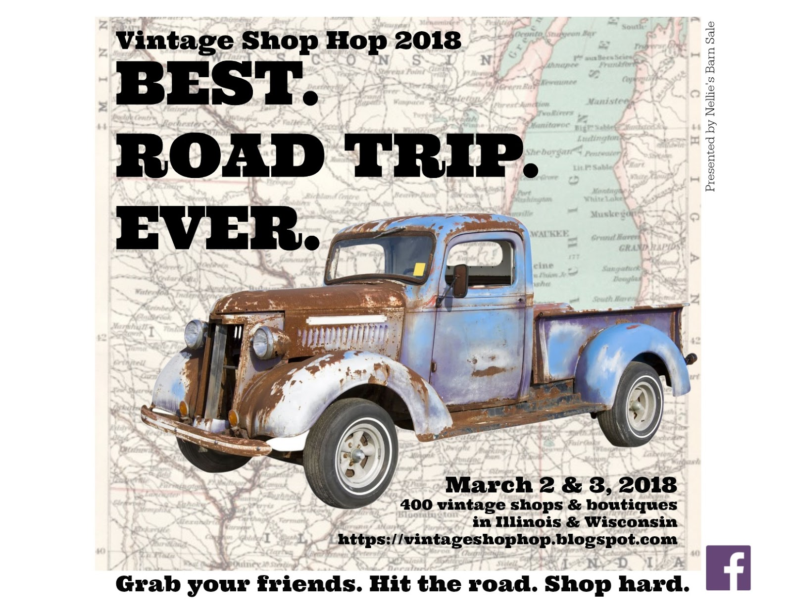 Vintage Shop Hop: 2018 SHOP HOP LIST