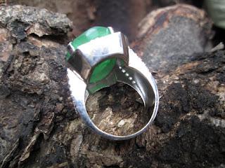 Natural Quartz Rasa Zamrud Jumbo Ikatan Perak Memo My Gems Lab (QTZ003)