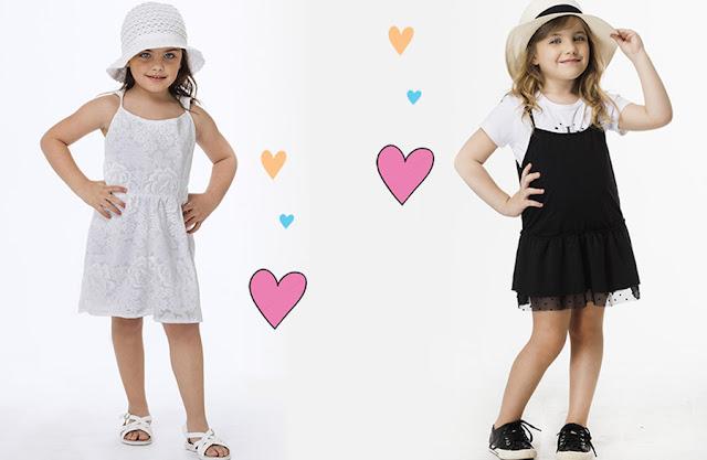Moda vestidos para niñas primavera verano 2018. Moda 2018 niñas.