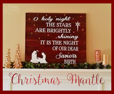 O Holy Night light up board for Christmas mantle