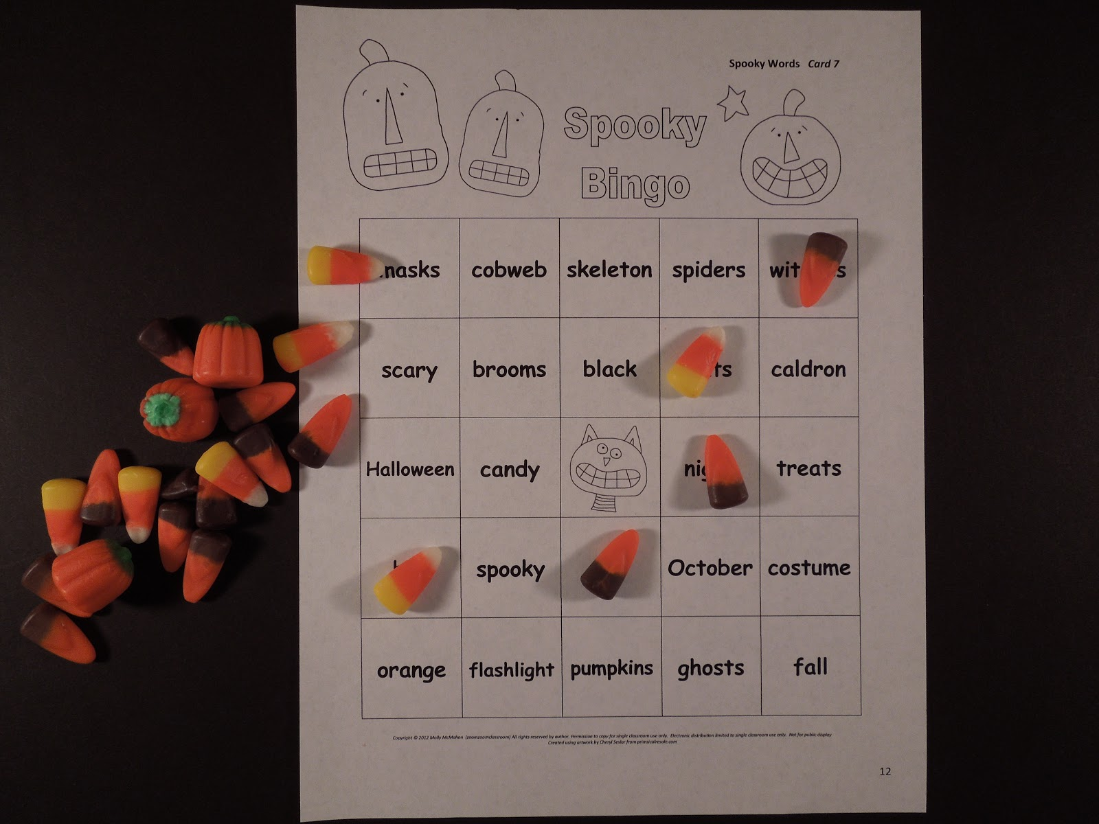 Lessons By Molly Halloween Bingo