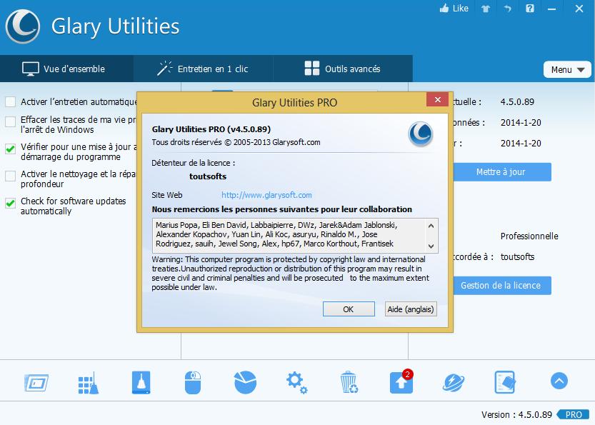 <b>Glary</b> <b>Utilities</b> 3 <b>Pro</b> Free license