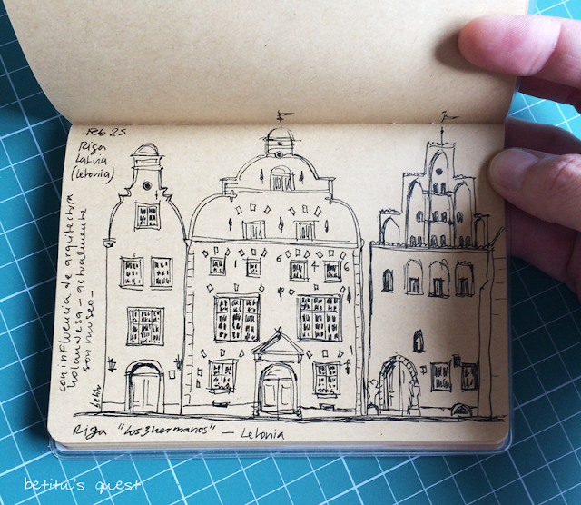 Sketchbook VIII - Three brothers, Riga by betitu