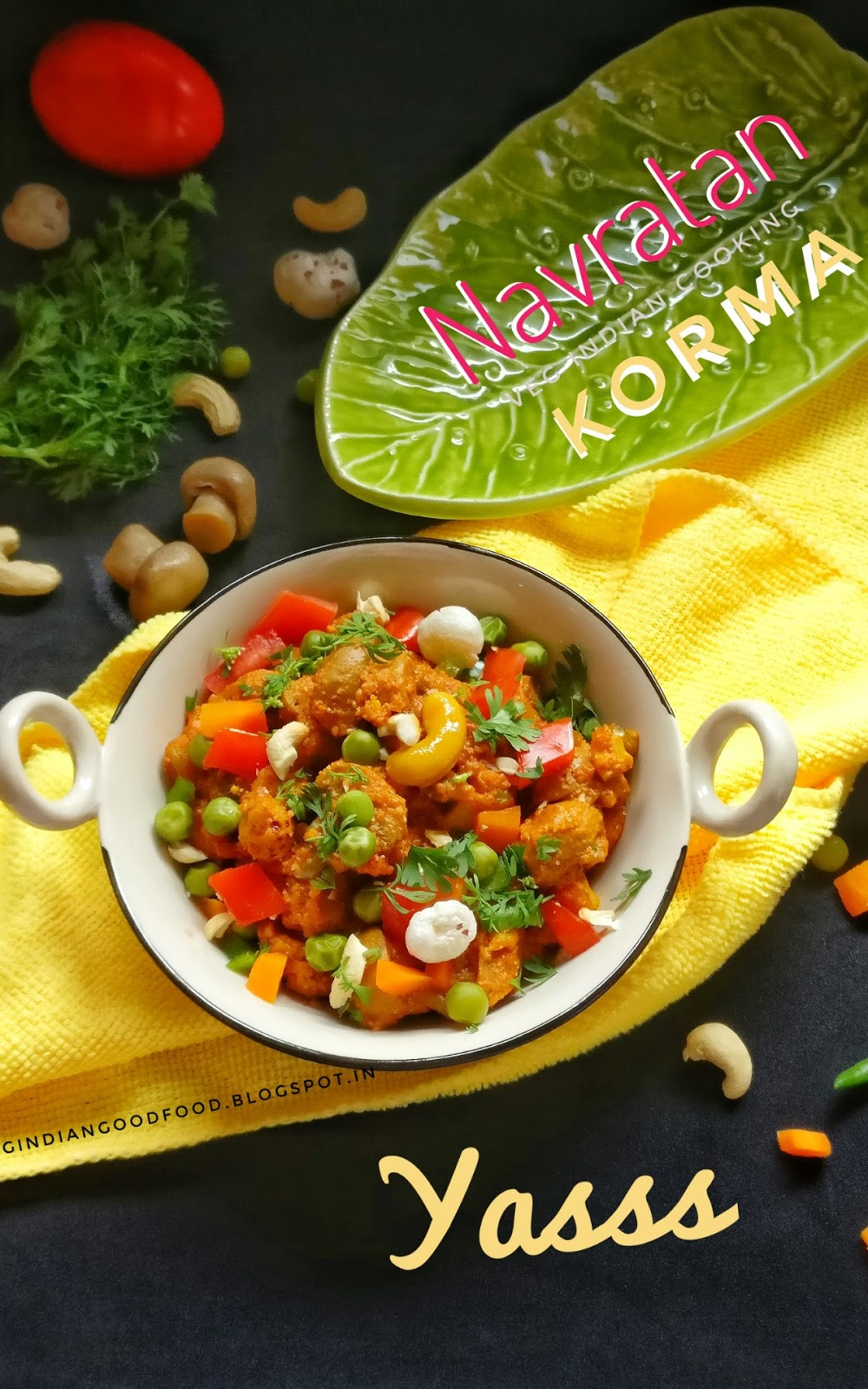 how to make veg navratan korma in hindi
