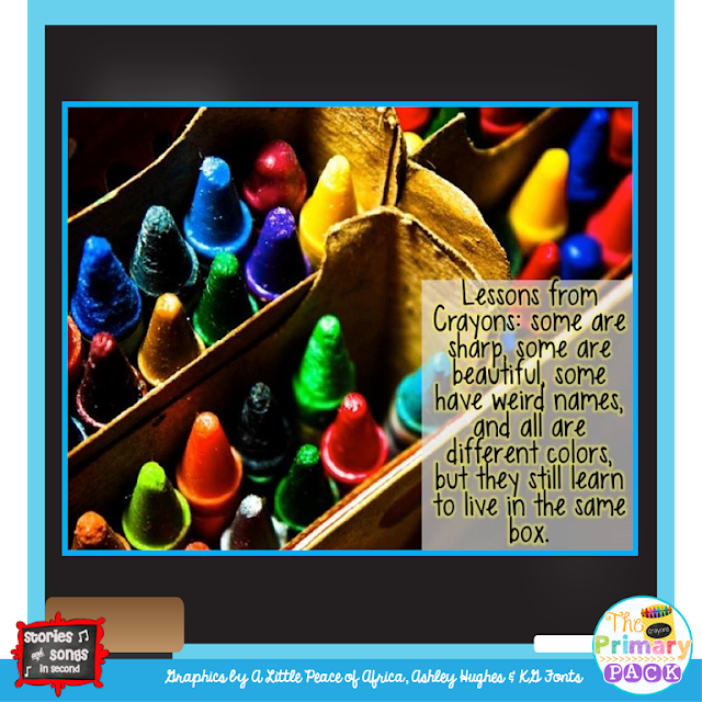 The Day The Crayons Quit and The Day The Crayons Came Home are two wonderful books to use to teach students of all ages the importance of cooperation, collaboration, and classroom community!  Help them understand that working together is better!