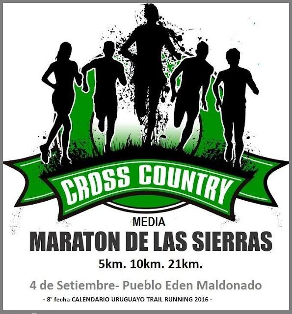 Media maratón de las sierras (trail run, 21k - 10k - 5k - Pueblo Edén, Maldonado, 04/sep/2016)