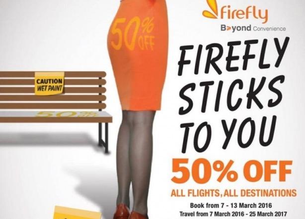 Firefly Cetus Kemarahan Akibat Promosi Tiket Murah Dengan Punggung Wanita