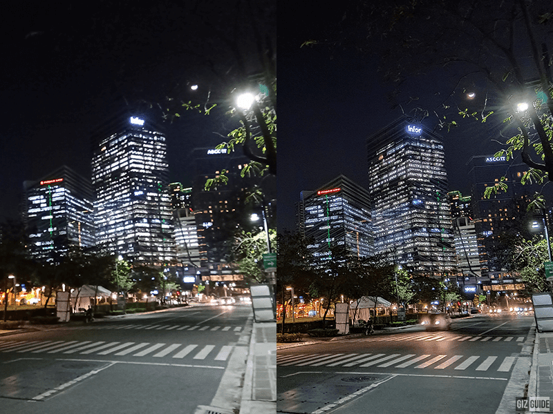 Normal vs Nightscape mode