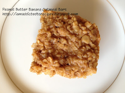 Peanut Butter Banana Oatmeal Squares | Addicted to Recipes