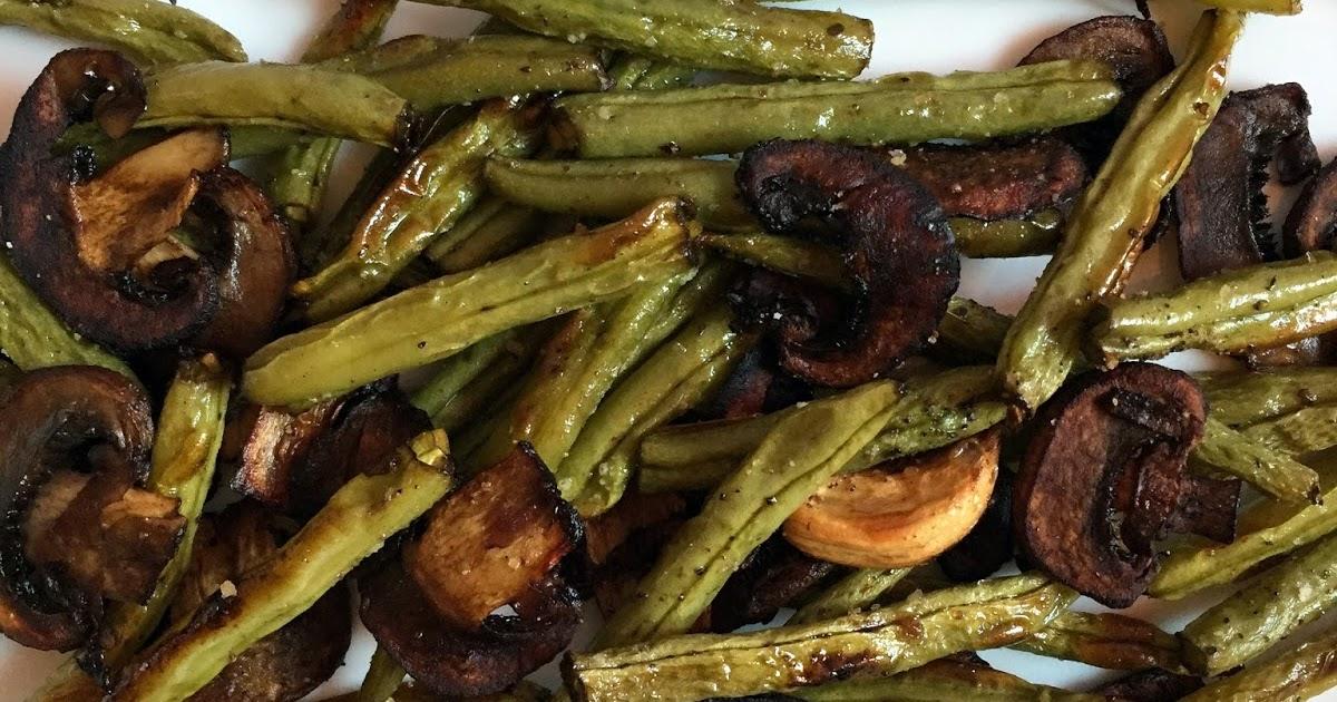 Inglourious Bananas: Balsamic Garlic Roasted Green Beans and Mushrooms ...