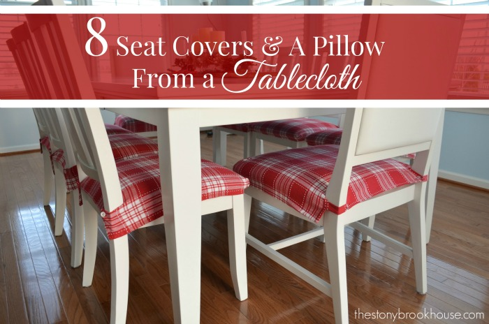 Seat Covers and A Pillow from A Tablecloth