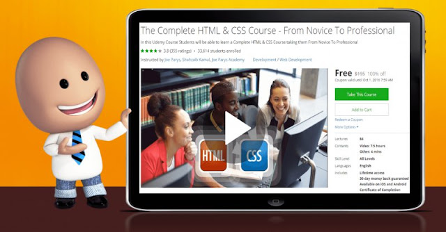 [100% Off] The Complete HTML & CSS Course - From Novice To Professional| Worth 195$