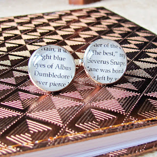 image harry potter cufflinks cuff links set albus dumbledore severus snape handmade two cheeky monkeys literature