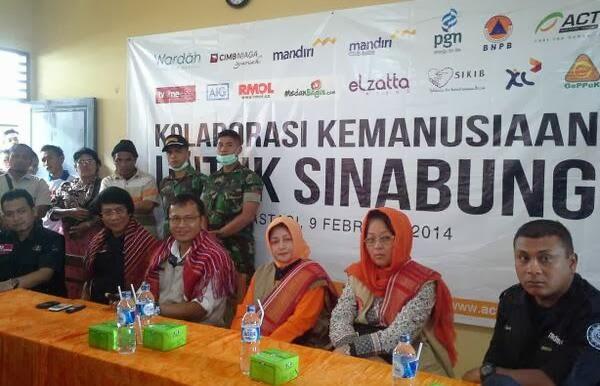 Kolaborasi Kemanusiaan Untuk Sinabung