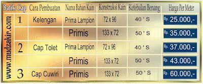 Gosir Batik cap murah di jakarta timur dengan bahan katun yang berkualitas. Mulai harga