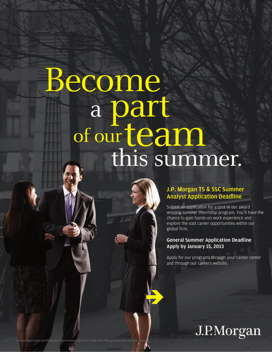 Fordham Career Services Blog: JP Morgan Summer Internship Program