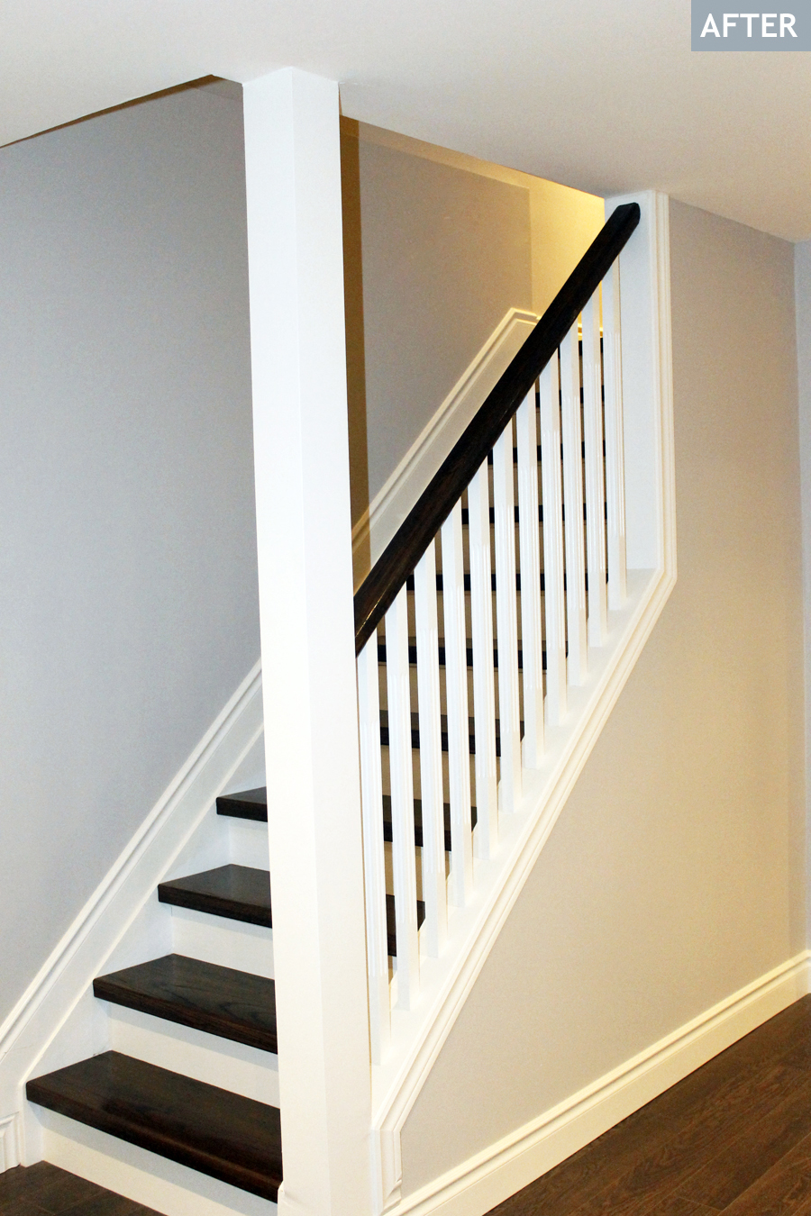 Half Wall Ideas By Staircase
