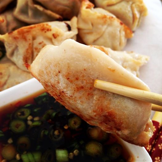 Pan fried pork dumplings via: daianddal.com