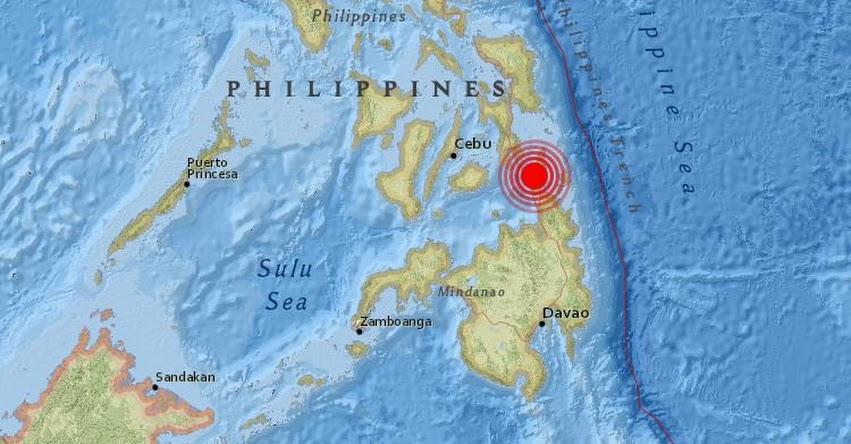 TERREMOTO EN FILIPINAS de 6.5 Grados (Hoy Viernes 10 Febrero) Sismo Temblor EPICENTRO Talisay - USGS