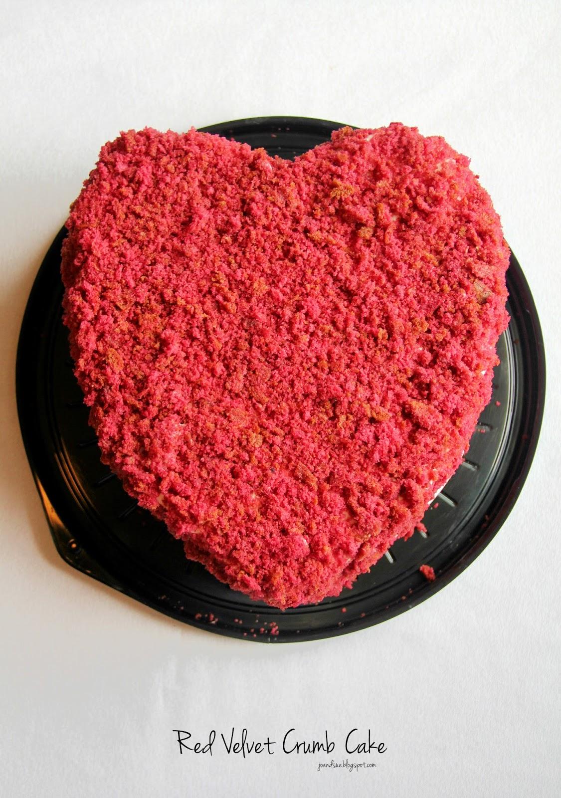 Red Velvet Crumb Cake