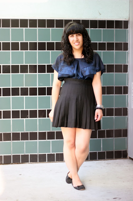 Flats and a Pleated Skirt