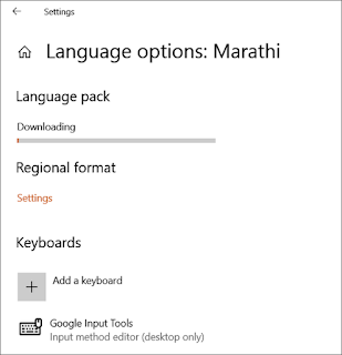 install langugae pack fonts on Windows 10