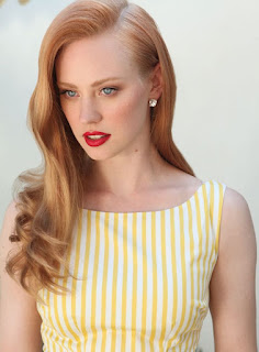 Strawberry blonde for fine hair & vintage look