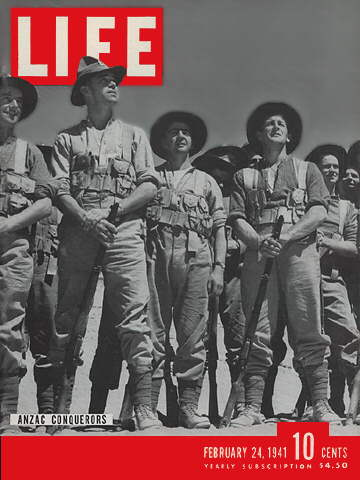 24 February 1941 worldwartwo.filminspector.com Life Magazine Anzac Conquerors