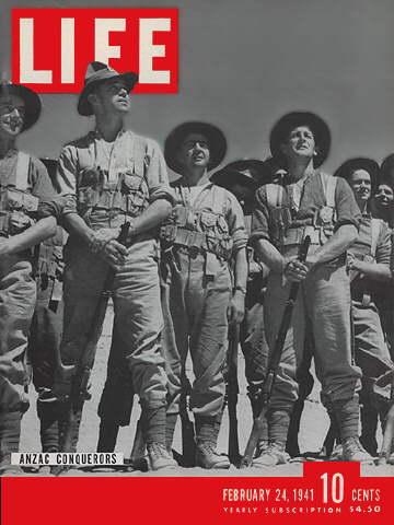 24 February 1941 worldwartwo.filminspector.com Life Magazine Anzac Conquerors