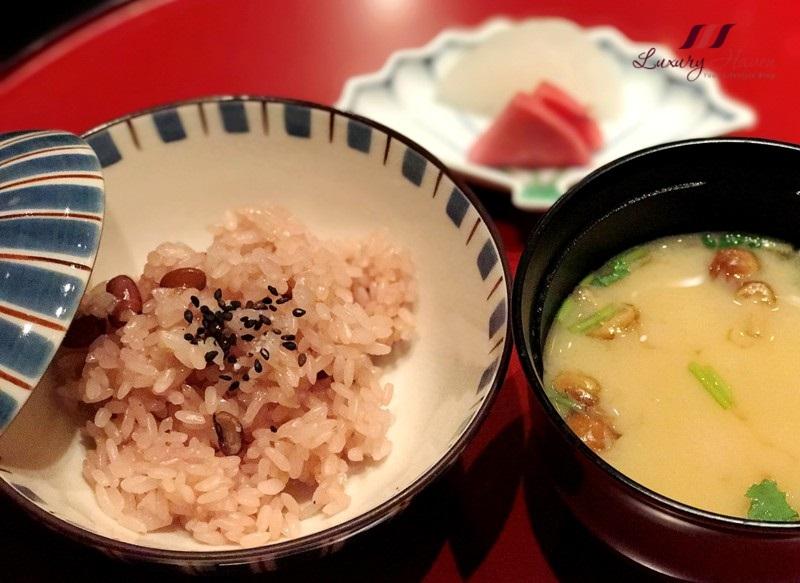 tokyo restaurants keio plaza hotel japanese red rice