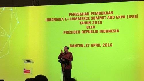 Presiden Jokowi Optimis e-Commerce Indonesia Berkembang Pesat