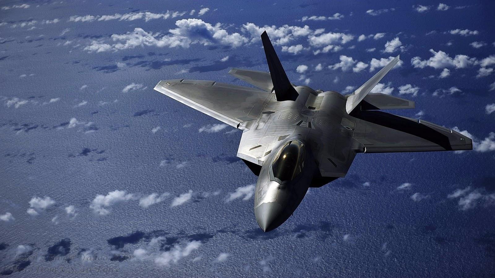 F 22 Raptor Of Lockheed Martin Ocean Inflight Aircraft