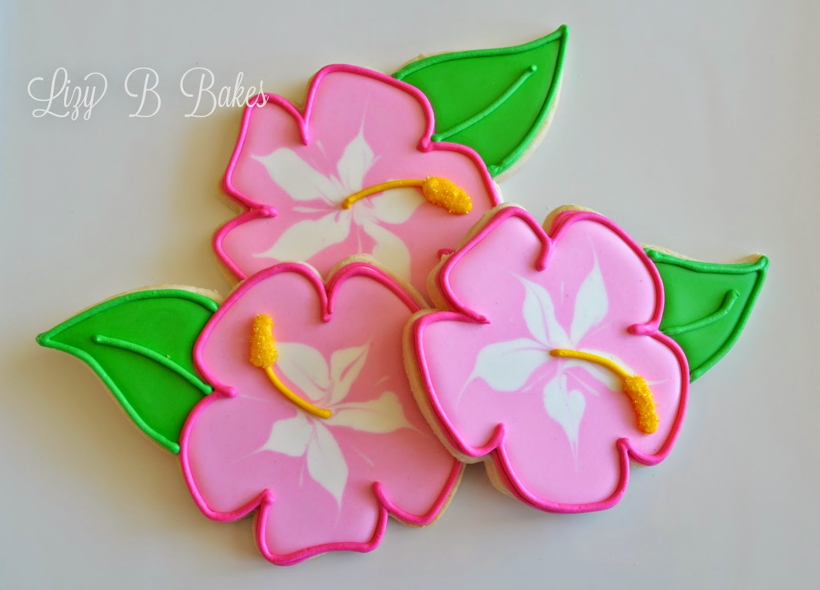 100 Hibiscus Flowers Out Of Royal Icing Yasminroohi