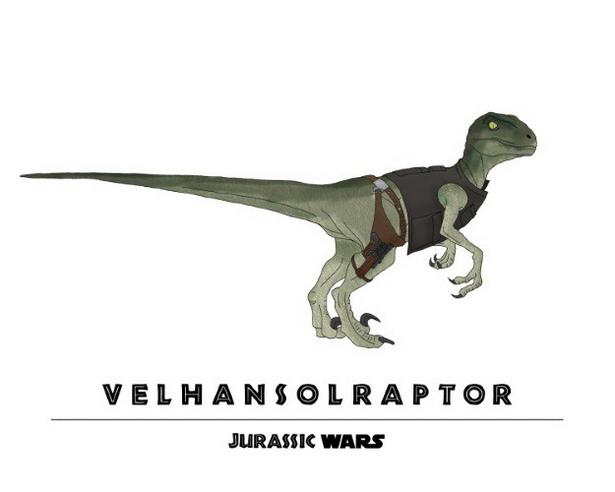 Han Solo + Velociraptor = Velhansolraptor