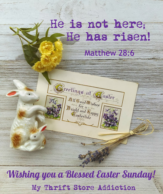 My thrift store addiction joyous easter greetings greetings to you on this joyous easter sunday m4hsunfo