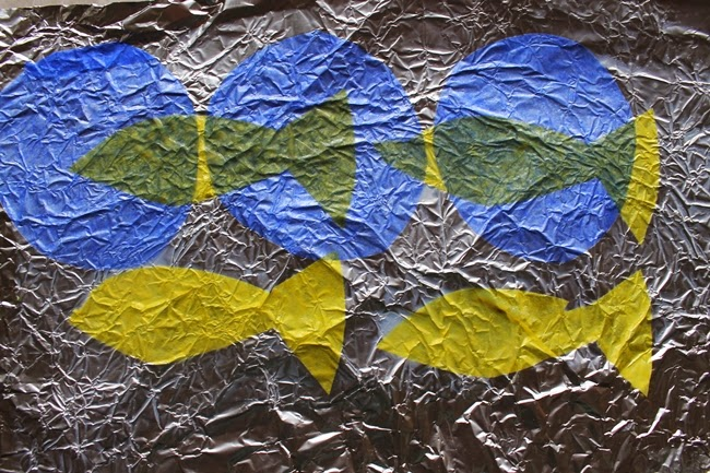 tissue fish on foil