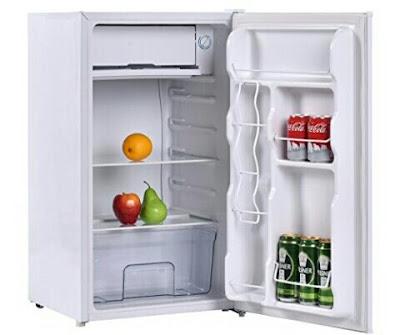 Giantex 3.2cu.ft Fridge - Mini Refrigerator Freezer with Reversible Door