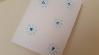 Stamped snowflake holiday cards