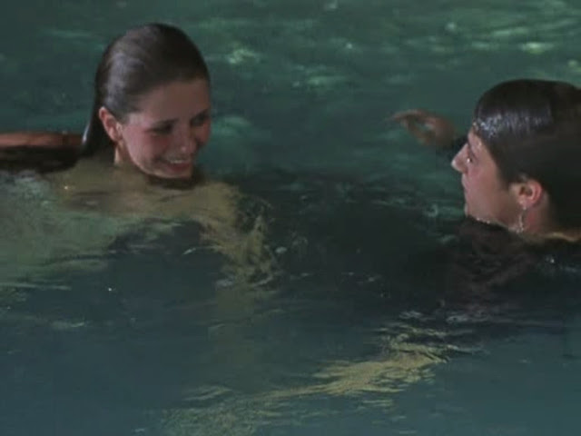ryan and marissa hang out in pool the o.c.