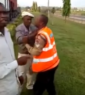 danfo driver fighting road safety officials
